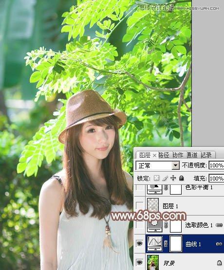 <a href=http://www.cnwebshow.com/http://www.cnwebshow.com/edu/photoshop/ target=_blank class=infotextkey>Photoshop</a>调出树林下女孩甜美暖色调,PS教程