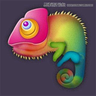 <a href=http://www.cnwebshow.com/http://www.cnwebshow.com/edu/photoshop/ target=_blank class=infotextkey>Photoshop</a>绘制i逼真的变色龙图标教程,PS教程