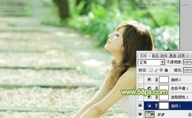<a href=http://www.cnwebshow.com/http://www.cnwebshow.com/edu/photoshop/ target=_blank class=infotextkey>Photoshop</a>调出外景美女照片唯美青色调,PS教程