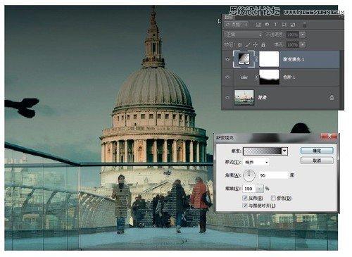 <a href=http://www.cnwebshow.com/http://www.cnwebshow.com/edu/photoshop/ target=_blank class=infotextkey>Photoshop</a>调出建筑照片唯美青色调,PS教程