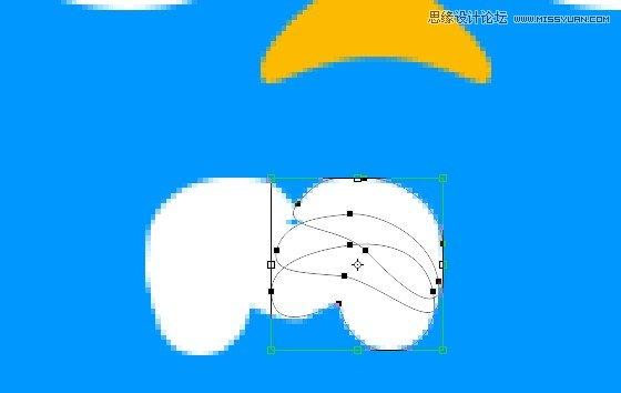 photoshop设计蓝色可爱的推特小鸟图标