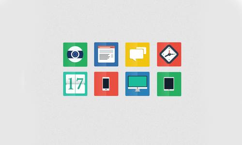 35套扁平化风格网页设计ui组件和图标,ps教程,思缘教程网