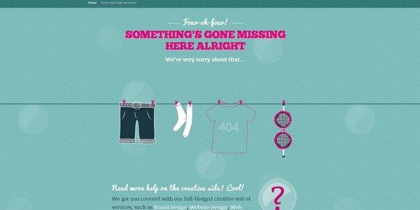 創意風格的網頁404頁面設計欣賞