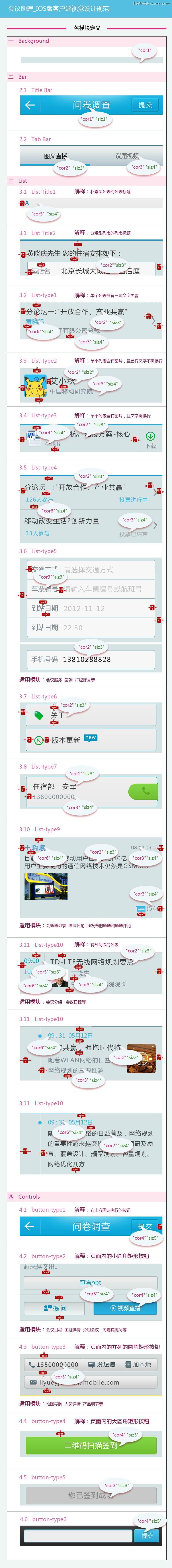 手機客戶端UI設計規範模版