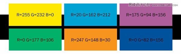 詳解扁平化設計的流行配色方案