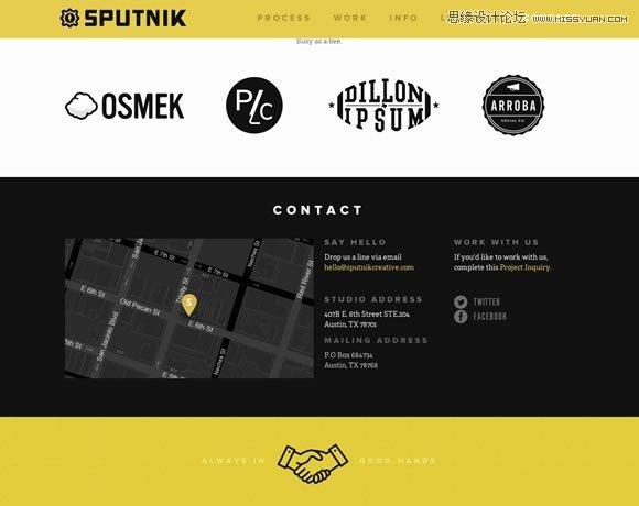 精选国外创意的联系页面及表单设计欣赏
