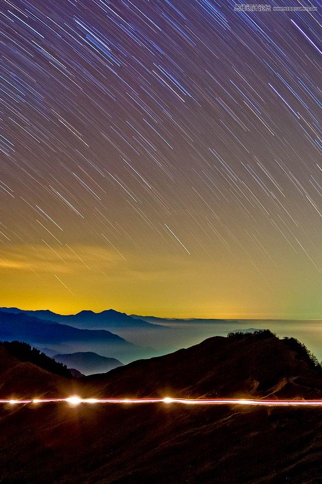 摄影师讲解星空银河与星轨的拍摄技巧,ps教程,思缘教程网