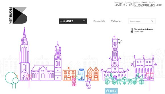 60个手绘风格网页界面设计欣赏