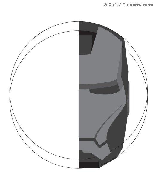 Photoshop绘制金属质感的钢铁侠头像