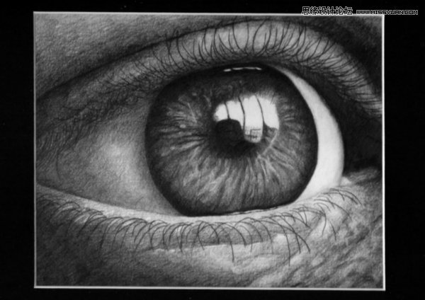 40个漂亮逼真的眼睛特写铅笔画欣赏,ps教程,思缘教程网