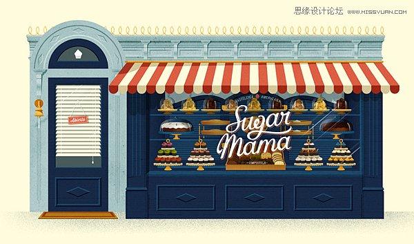 Sugar Mama甜品店品牌設計欣賞