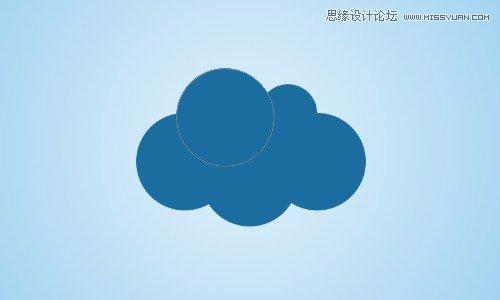 photoshop设计卡通风格的云彩效果(3)