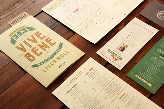 精选国外餐厅和咖啡厅菜单设计欣赏