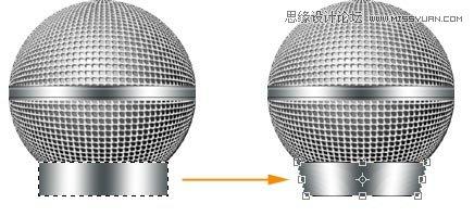 Photoshop繪製立體效果的麥克風話筒