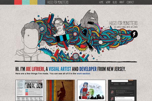 精选国外卡通手绘类风格网站设计欣赏