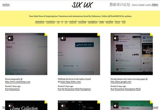 10个启发交互设计师灵感的ui设计网站