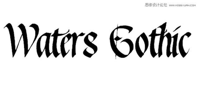 哥特英文字体下载 图片合集图片