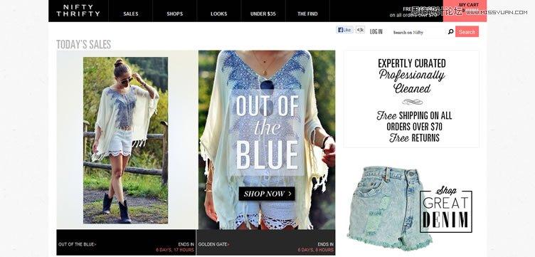 50个国外超赞时尚的电商网站设计欣赏(3)