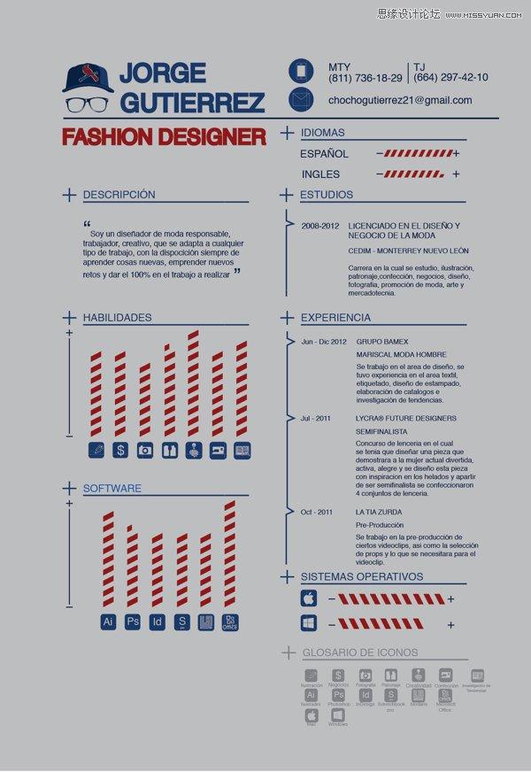 25个国外创意个人简历设计欣赏(2)图片