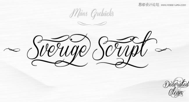 一组免费的手写艺术字体打包下载