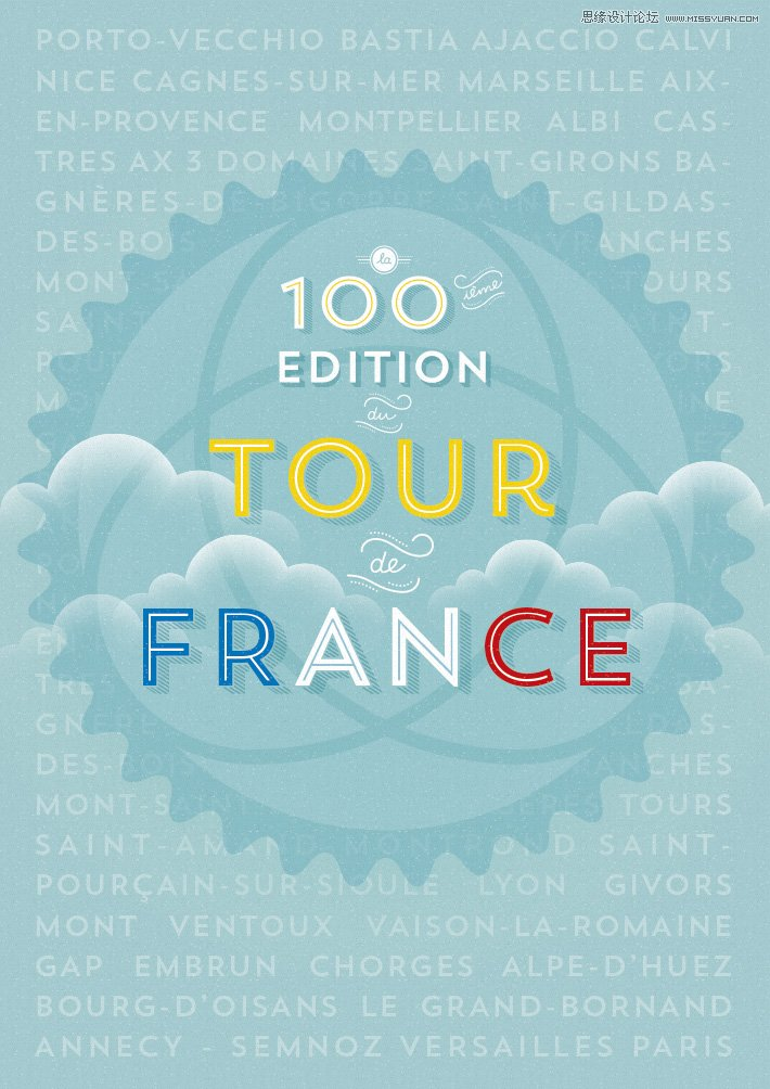 环法自行车赛100周年海报设计案例解析