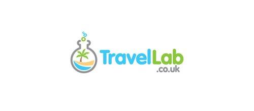 以实验室用的瓶子变形的logo设计欣赏