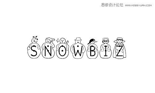 33款漂亮的冰雪英文字体下载,ps教程,思缘教程网