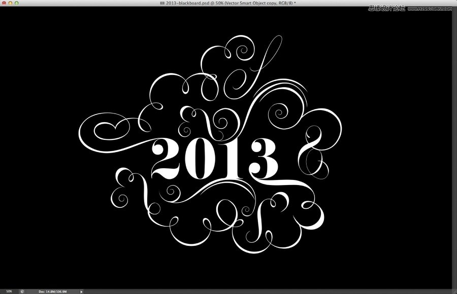 photoshop设计简洁时尚的花纹艺术字(2)