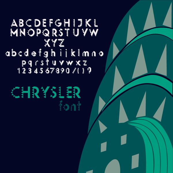 绘制国外风格扁平化字体英文方法设计欣赏ppt一般精选大气图片