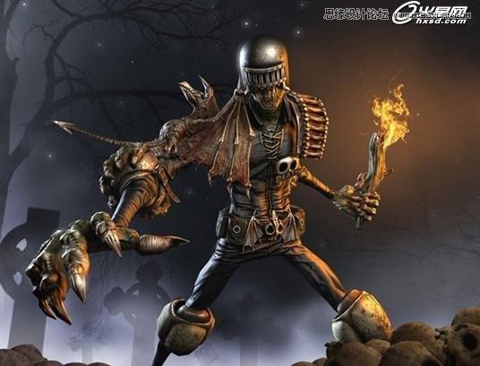 3dsMax裁决漫画制作游戏课件宣传画《生活设计死刑》标志图片
