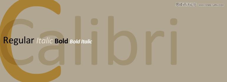 网页设计中最常见的30款英文字体