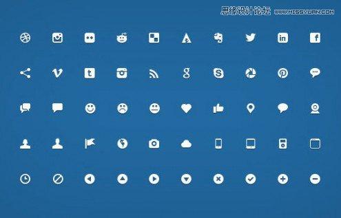 40个高品质免费简约的优秀图标集下载