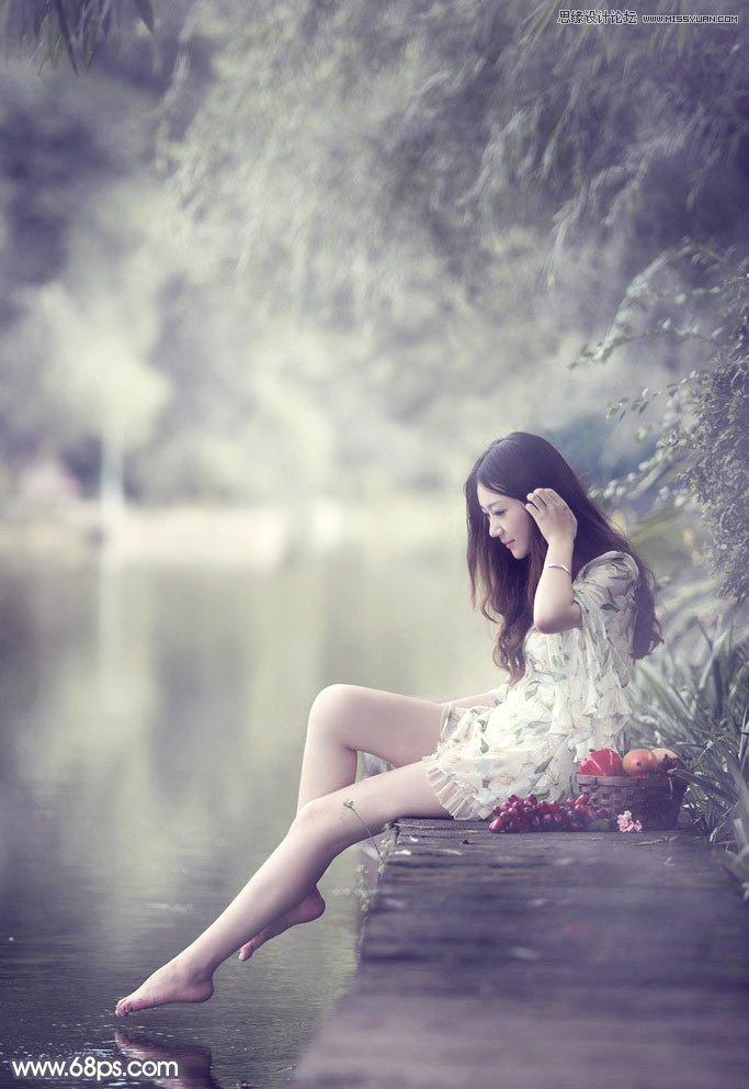 河边风景美女 片