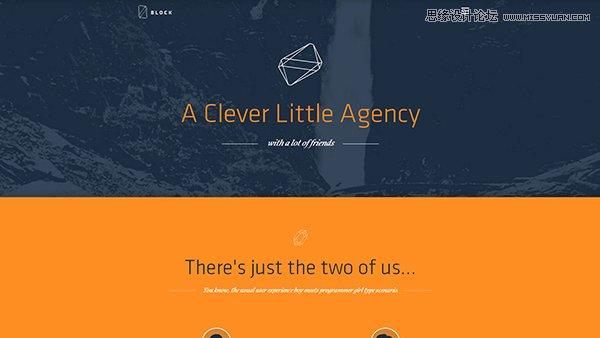 15个惊艳的全屏背景设计的网页设计欣赏,PS教程,思缘教程网