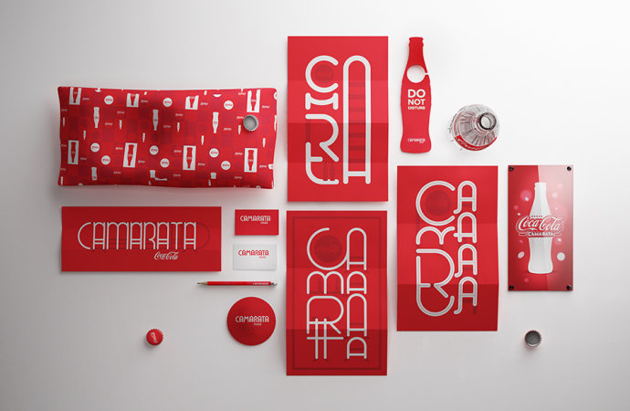 红色大气的可口可乐品牌推广设计欣赏图片