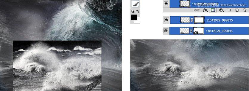 PS教程,PS合成水怪袭击场景教程 ps图片处理教程 ,预览图5