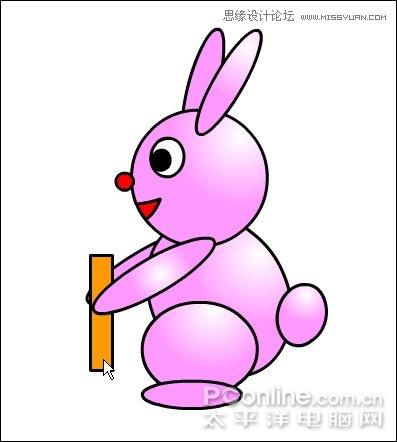 flash制作可爱的小兔子玩跷跷板动画