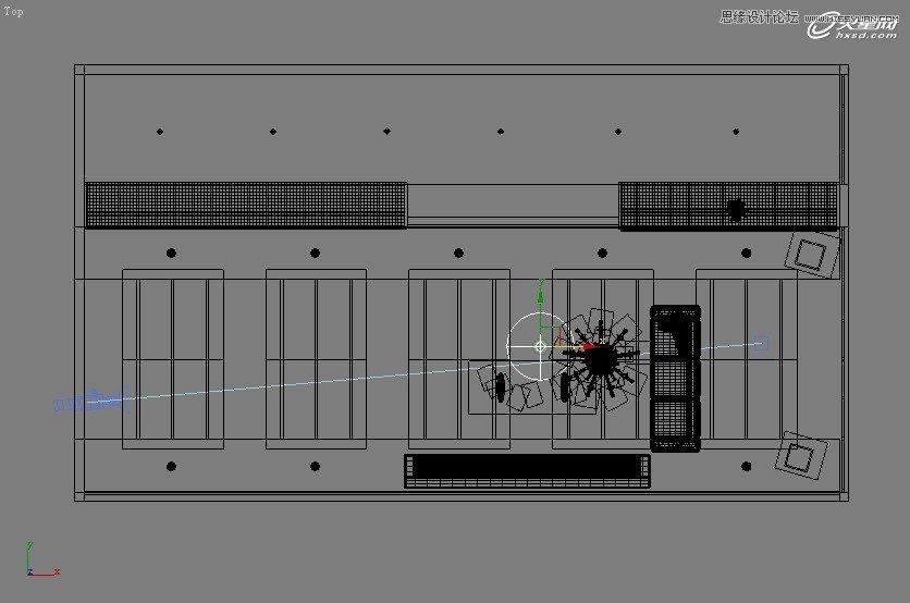 【技巧】3dsmax制作接待厅阳光表现实例教程-第8张图片-赵波设计师_云南昆明室内设计师_黑色四叶草博客