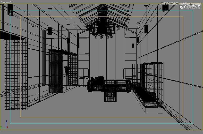 【技巧】3dsmax制作接待厅阳光表现实例教程-第6张图片-赵波设计师_云南昆明室内设计师_黑色四叶草博客