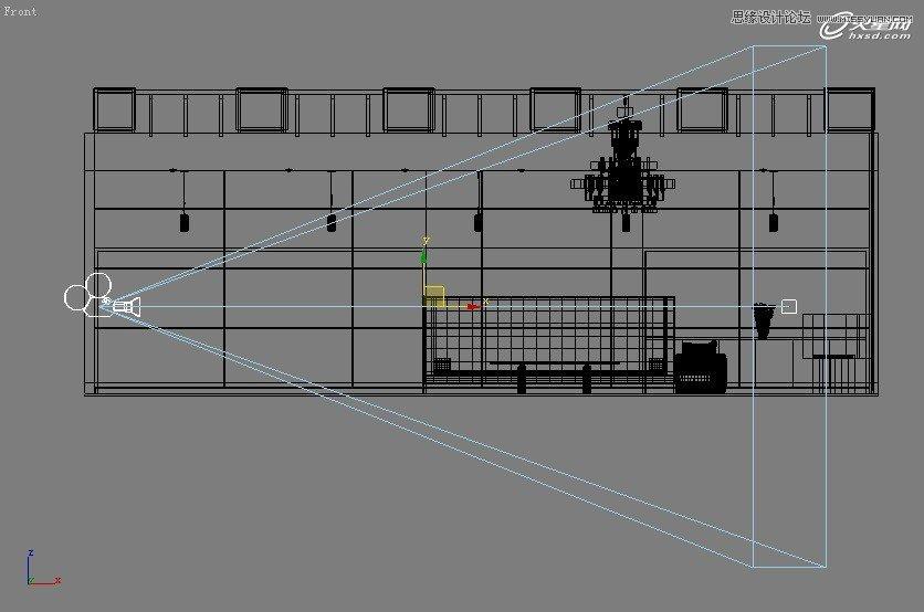 【技巧】3dsmax制作接待厅阳光表现实例教程-第3张图片-赵波设计师_云南昆明室内设计师_黑色四叶草博客