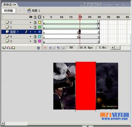 Flash制作遮罩图片切换特效教程,PS教程,思缘教程网