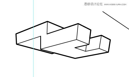 illustrator绘制线稿效果的立体透视图教程