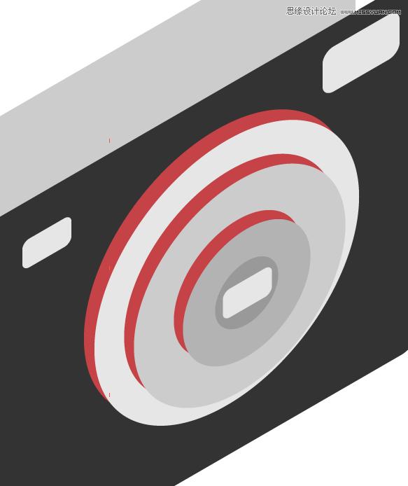 """本教程主要使用Illustrator绘制时尚的数码相机图标,教程难度中等。绘制的图标有卡通的效果,转发过来和思缘的朋友们一起学习。 先来看看最终的效果图:  1. 画一个圆角矩形。  2. 画基本的形状,例如圆、镜头、取景器和闪光灯。  3. 执行""""对象""""菜单>变换>倾斜,数值如图所示。  4."""