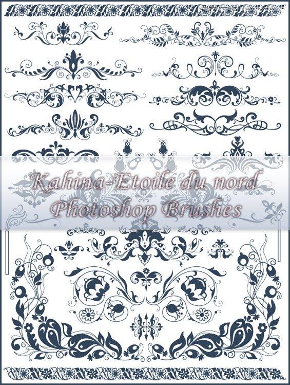 欧美时尚装饰花纹笔刷