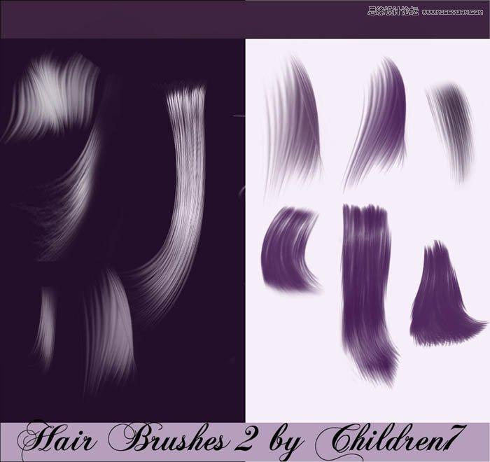头发花纹图案设计分享展示图片