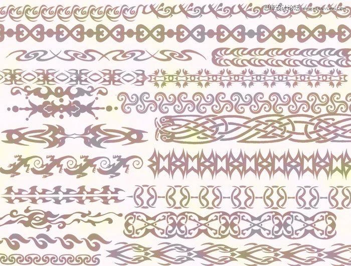 欧式古典花纹边框装饰笔刷