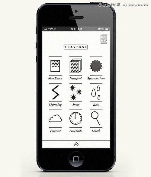 5套移动手机app导航菜单设计方案