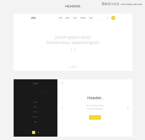 18套优秀ui组件和线框图工具打包免费下载 - 网页设计