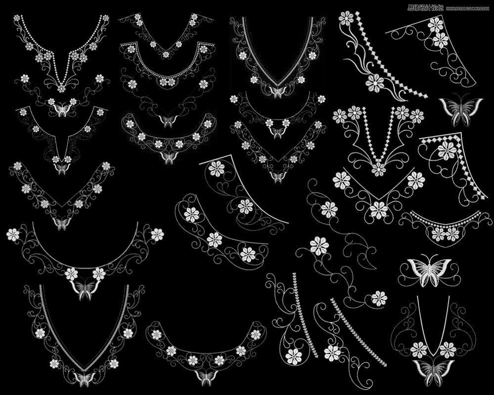 衣服领口装饰花纹笔刷