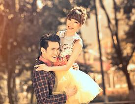 清新 教程/Photoshop调出外景婚片秋季唯美的金黄色